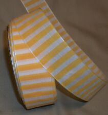 "5 yds. Yellow & White Striped Fabric Ribbon 1 1/2"" Wide"