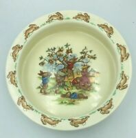 Royal Doulton Bunnykins Picking Apples Child's Bowl Cereal Soup Rimmed