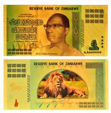"★★ ZIMBABWE : BILLET POLYMER  "" OR "" DU 100 DECILLION DOLLARS  ★★"