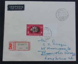 nystamps Hungary Stamp # C81 Used Imperf On Cover   L23y3296