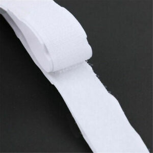 1m*2cm 2 in1 Self Adhesive Tape Hook and Loop Fastener Extra Sticky Black/White