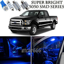 9pcs 5050 SMD Blue LED Interior Lights Bulb Package Kit For Ford F150 2013-2016