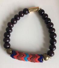 NWOT Designer Vanessa Mooney Fawn Rosewood African Bead Stretch Bracelet