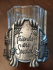 Votive Candle Holder Friends are Special Pewter Home Improvement Bohemian Decor
