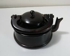 Vintage Chinese Style Carved Wooden Teapot/ Keepsake Box