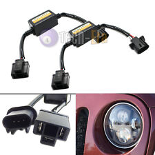 """2pcs H4-To-H13 Jeep Wrangler JK Anti-Flicker Decoders For 7"""" Round LED Headlight"""