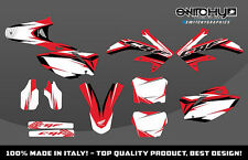 KIT ADESIVI GRAFICHE RACE ONE WHITE HONDA CRF 450 2008 DECALS DEKOR
