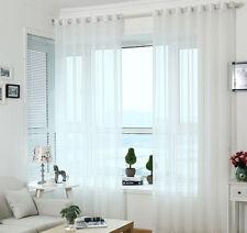Dekoschal Gardine Vorhang mit Ösen  Fensterschal Transparent Voile Weiss