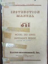 Electro Measurements Model 250 Series Impedance Bridge Instruction Manual