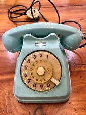 RARISSIMO TELEFONO SIP SIEMENS AUSO S62 A DISCO COLORE AZZURRO ORIGINALE VINTAGE