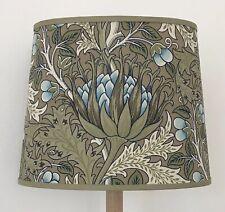 William Morris Artichoke - Small Handmade Oval Lampshade Table Lamp