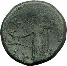 SYRACUSE in SICILY 2-1CBC RARE R2 Zeus Tyche Galley Greek Coin by Romans i55910