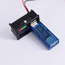 LED Digital Display Mini Voltage Volt Meter Tester For DC 12V Car USB 5V2Aoutput