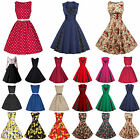 Rockabilly Dress Women 50'S 60'S Vintage Retro Housewife Pinup Party Swing Dress