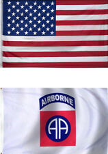 3x5 Usa Flag American Flag Airborne Flag Gift Set Premium 2 Flag Set
