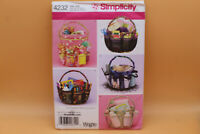 Simplicity 4232 Uncut Basket Bucket Cover Craft, Baby, Make up Tote Uncut