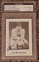 Lou Boudreau signed autographed 1978 Grand Slam Hall of Fame HOF PSA Indians