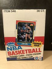 1986-87 Fleer Basketball Empty Box Great Condition