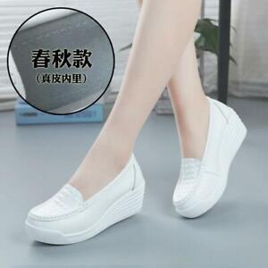 Womens Nurse Shoes Wedge Heel Work Pumps Loafers Nursing Shoes Slip On Oxfords