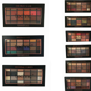 Eyeshadow Palette Matte & Shimmer by Technic Gold Bronze Pink Brown Red Mixes