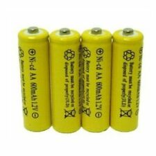 4 Piece Set AA NiCd 600mAh 1.2V Rechargeable Battery Househould Supply Reliable