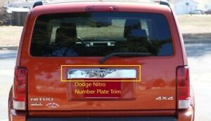 DODGE NITRO REAR NUMBER PLATE TRIM TO SUIT - 2007-2012