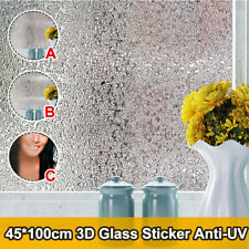 2pcs !! Reflective 3D Window Film Decorative Privacy Static Clings Glass