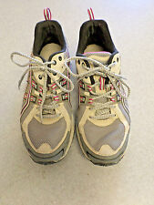 """ASICS """"Gel Enduro 5"""" gray and red trail running shoes Women's 8 (eur 39.5)"""