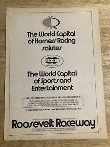 ROOSEVELT RACEWAY Harness Racing  - Vintage 1978 Print Ad