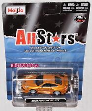 MAISTO ALLSTARS 2008 PORSCHE 911 GT2 1:64 SCALE W+