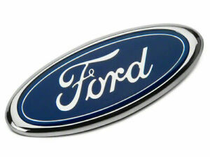 Ford badge oval blue/Chrome 150mm x 60mm front/rear Emblem focus mondeo transit