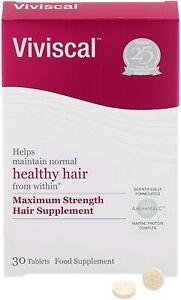 Viviscal - Maximum Strength Hair Supplements for Thicker & Fuller Hair - 30 Pack