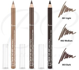 RIMMEL Brow This Way Eyebrow Long Lasting Pencil With Fibres 1.1g *CHOOSE SHADE*