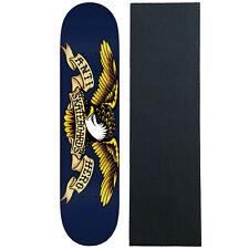 "Anti Hero Skateboard Deck Classic Eagle Blue 8.5"" With Pro Grip"