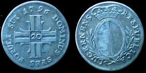 20 KREUZER 1796 Suisse, Canton Luzern. Argent/ Silver Cote TB 150 FS TTB 250 FS
