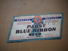 New listing Pabst Blue Ribbon Irtp 3.2~7%12 Oz Beer Label~Premier~Pabsy Brg.,Milwaukee,Wi #1