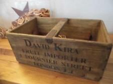 LARGE VINTAGE STYLE WOOD STORAGE CRATE BANANA BOX BANANAS FRUIT IMPORTER LONDON