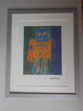"Lithographie ,  Andy Warhol , "" Moon Explorer 2 "" ,  Tirage 5.000 Ex"