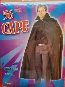 "Adult 56"" Black Cape"