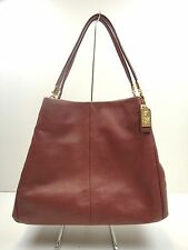 NWT COACH MADISON LEATHER SMALL PHOEBE SHOULDER BAG LIGHT GOLD ROUGE F26224