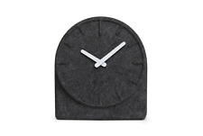 NEW LEFF AMSTERDAM FELT TWO CLOCK ANALOG DISPLAY HOME DECOR GREY WITH WHITE HAND
