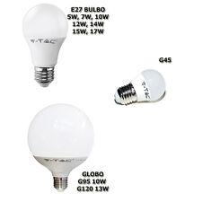 LAMPADINA  V-TAC E GT-LUX E27 G45 DIMMER LED DA 5W A 17W GLOBO VTAC CALD FRD NAT