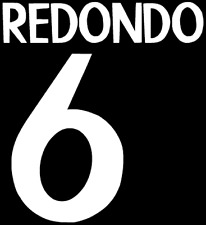 Real Madrid Redondo Nameset Shirt Soccer Number Letter Heat Print Football 98 A