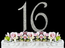 NEW Large Rhinestone  NUMBER (16) Cake Topper Sweet 16 Birthday Party FREE SHIP