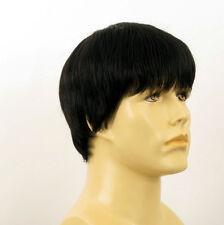 Perruque homme 100% cheveux naturel noir ref STEVE 1b