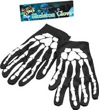 CHILD SKELETON BONES GLOVES HALLOWEEN GIRLS BOYS NEW 9 Inch