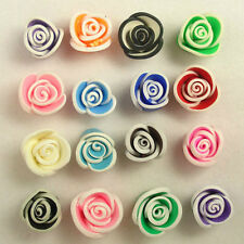 50 PCS Mixed Color Fimo Polymer Clay Flower Beads 15mm