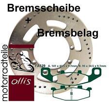 EBC front brake rotor + Brake Pads-Kawasaki KLE 500-Stainless Steel