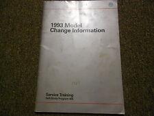 1993 VW Model Change Information Service Training Shop Manual FACTORY OEM 93