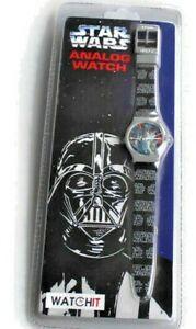 Darth Vader Star Wars Novelty Analog Watch Mint Sealed WATCHIT 1997  Collectable